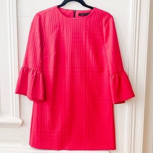 ZARA size small pink dress with bell sleeves